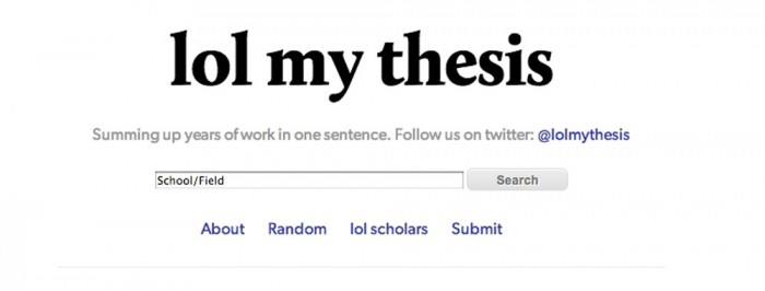 Write my thessis