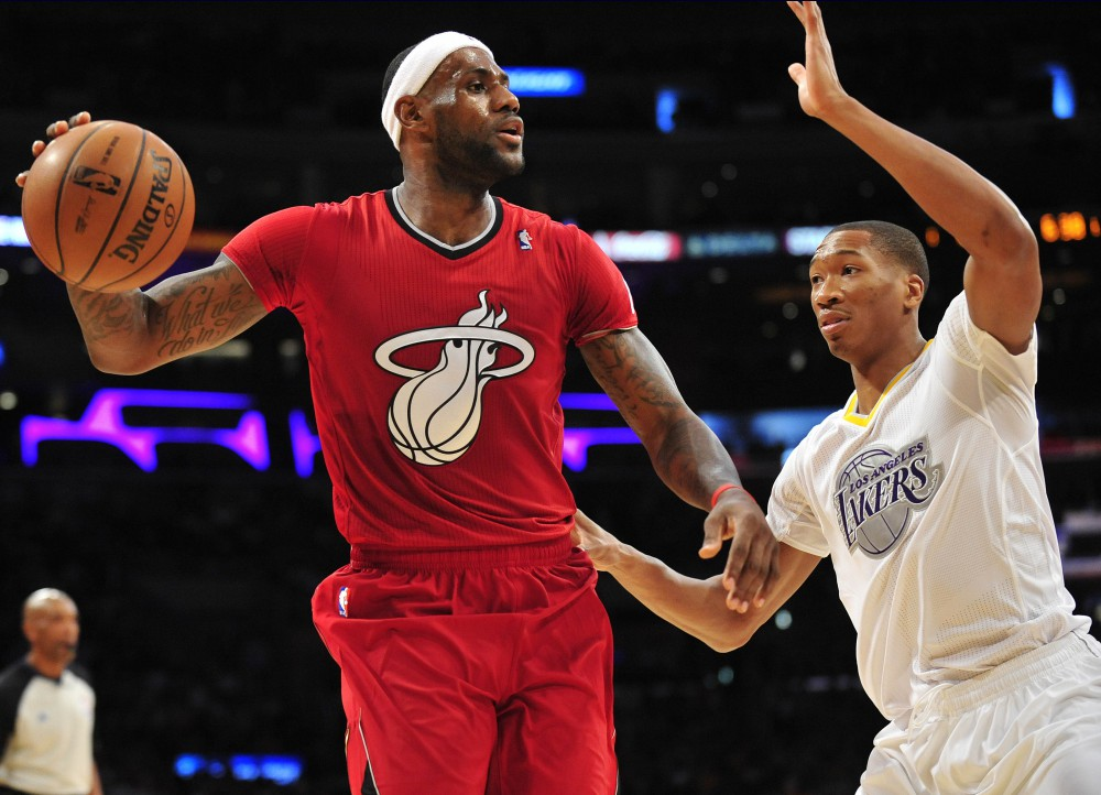 NBA: Miami Heat at Los Angeles Lakers
