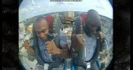 DMX Screams His Head Off on  Amusement Park Ride then trys to play if off Caught on Camera