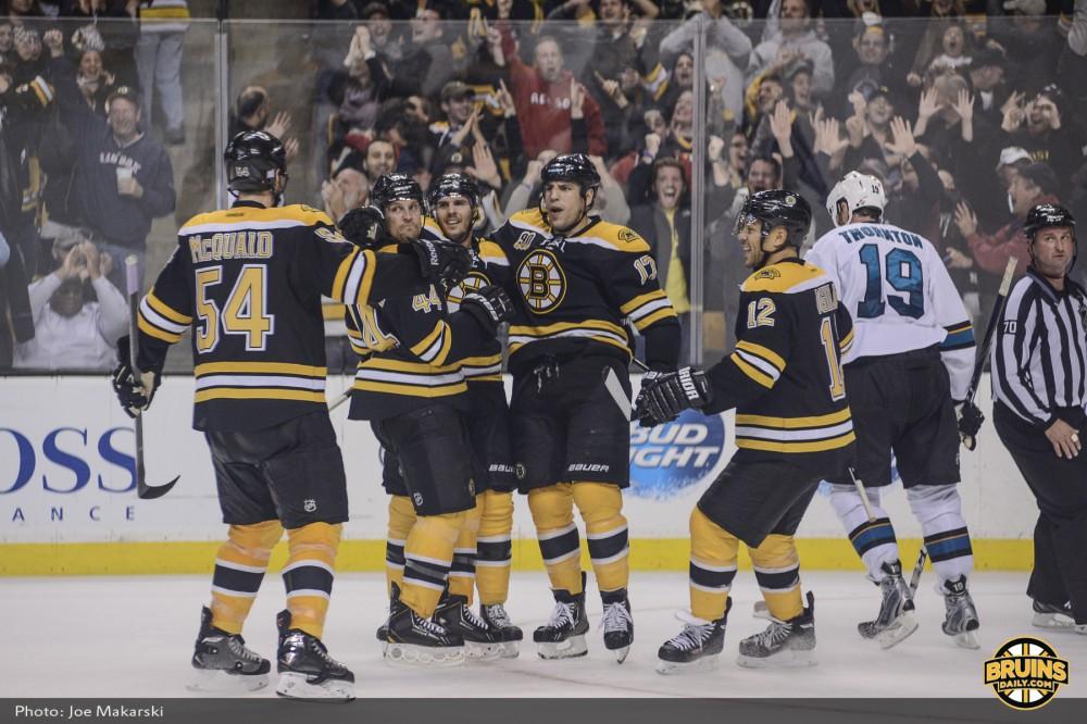 Bruins celebrate game winner