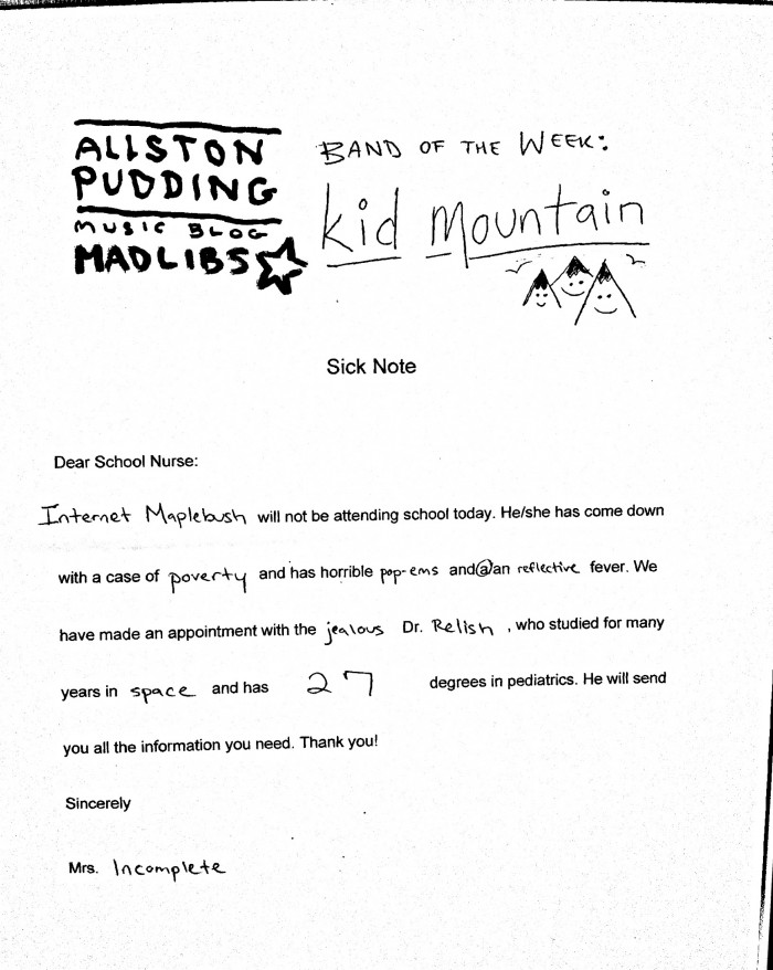 Kid Mountain Madlib