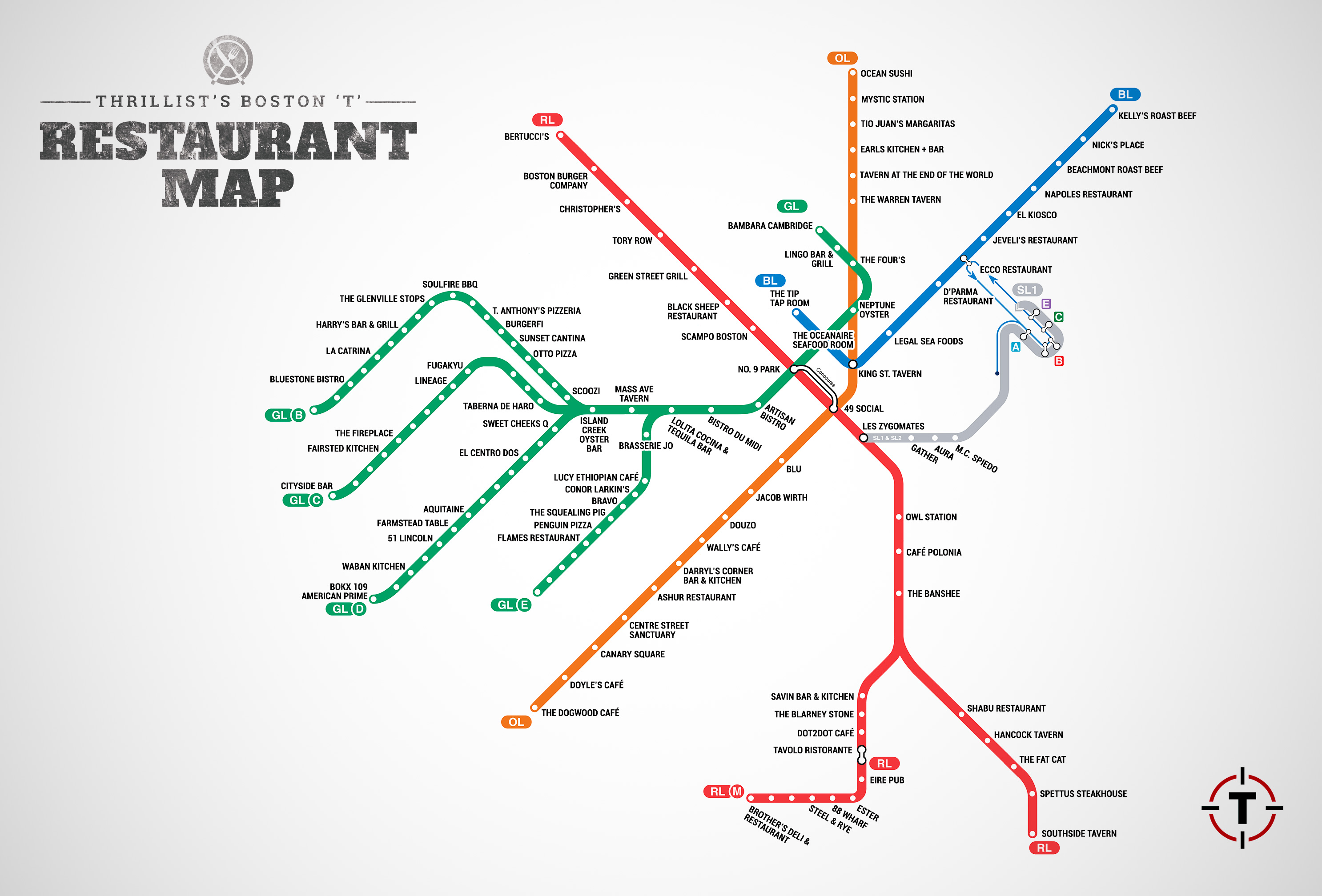 Cool Map Visualizes The Best Restaurants For Every T Stop