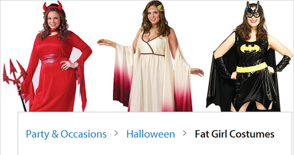 Walmart Fat Girl Halloween Costume Header