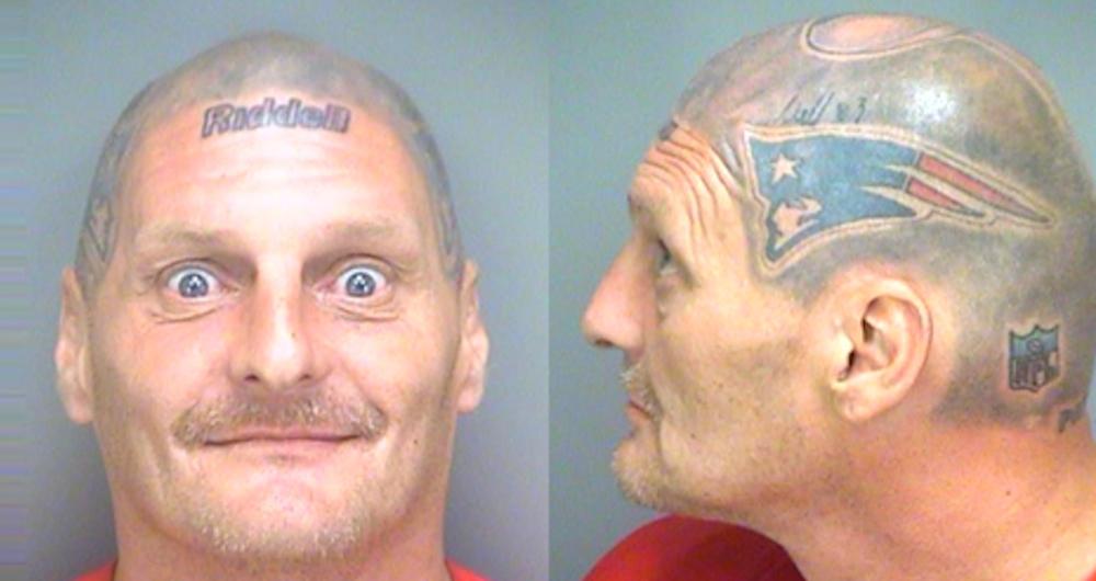 Pats Fan Helmet Tattoo