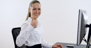 thumbs up computer
