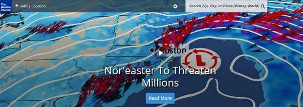 weather dot com noreaster